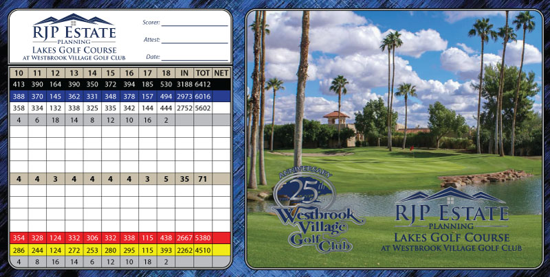 RJP Lakes Back Scorecard